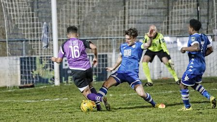 Zane Banton skips his way through the Hertford defence. Picture: LEIGH PAGE