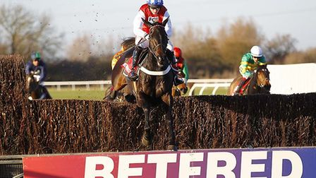Josses Hill on the way to victory in the big Betfred Peterborough Chase at Huntingdon last year. Pic