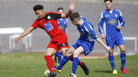 Kyle McLeish scored against both Oxhey Jets and Sawbridgeworth Town but was also sent off. Picture: