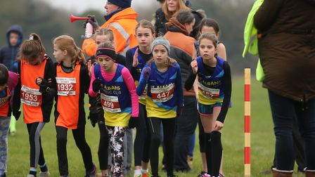 St Albans Striders youngsters take part in the Chiltern Cross Country League. Picture: Danny Loo