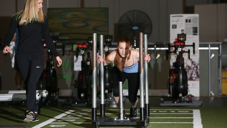 Herts Advertiser reporter Franki Berry is put through her paces on her first personal training sessi