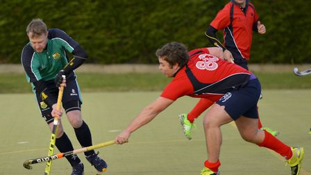 Matt Bamford on the ball for St Ives 1sts in their win against Dereham 2nds. Picture: DUNCAN LAMONT