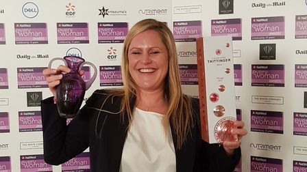 Anne Timpany with her award. Picture: Pardell PR