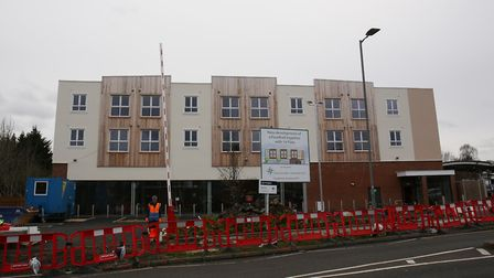 The site of the new Marks and Spencers underneath the new build in Marshalswick. Picture: Danny Loo