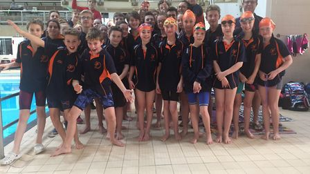 St Ives Swimming Club celebrate their success at the City of Peterborough Winter Meet.