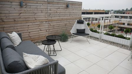 A view from the roof terrace at the Gabriel Square showhome [Danny Loo]