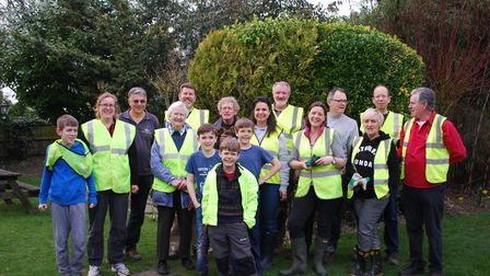 The litter pick team have been out making a visible difference in their community. Picture: Courtesy