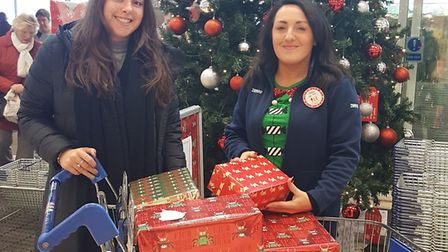 The Tesco Little Boxes were handed to some young carers.
