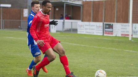 Nabil Shariff hit a late leveller for St Neots Town. Picture: CLAIRE HOWES