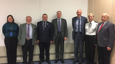 CRIME: Members of the Federation of Small Businesses met police and crime commissioner Jason Ablewhi