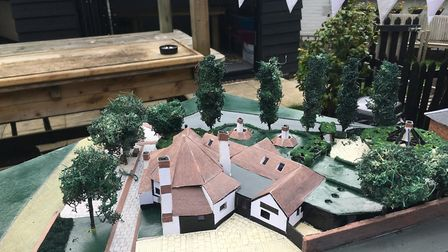 A model of the refurbishments being planned for Ye Olde Fighting Cocks.