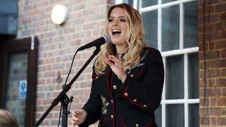 The Shires visit Beechwood Park School in Markyate to open their new music school extension.
