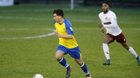 Layne Eadie in action against Chelmsford City. Picture: LEIGH PAGE