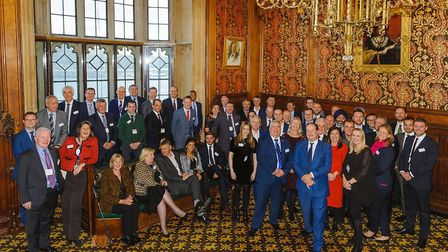 Members of Putterills' Land and New Homes and their clients at Parliament