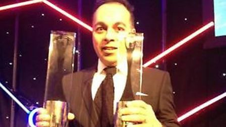 Spacechips CEO, Dr. Rajan Bedi, receiving both awards.