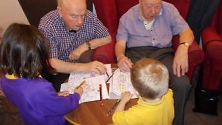 Reception pupils at Cunningham Hill Infant School have been going to The Orchard Care Home since Oct