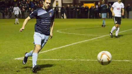 Dylan Williams made a goalscoring return from injury for St Neots Town. Picture: CLAIRE HOWES