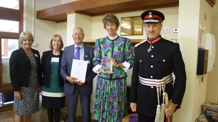 Rennie Grove Hospice receives the Queen's Award for Voluntary Service.