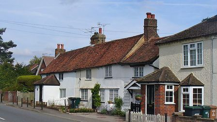 Some of the village's characterful homes