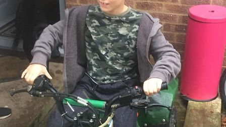 The quad bike stolen from the van on Cutmore Drive in Colney Heath. Photo: Natalie Farrance.