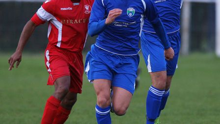 Laurence Vaughan in action for London Colney. Picture: KARYN HADDON