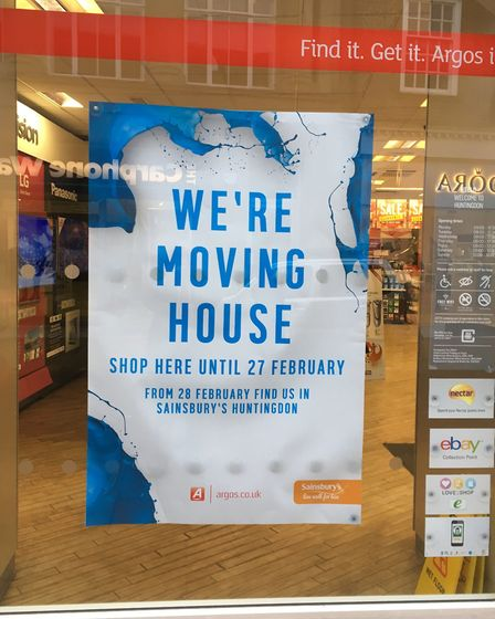 MOVING: Argos is closing its branch in Huntingdon High Street and moving to Sainsburys