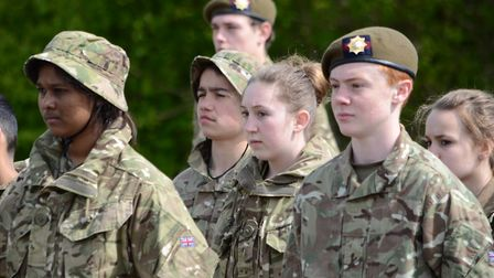 Cadets from Marlborough Science Academy joined St Albans School's Combined Cadet Force (CCF) in a pa