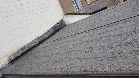 A picture of the roof before Darren Bell had repaired it. Photo: Up and Over Roofing.