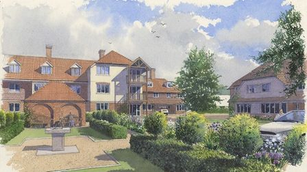 An artist's impression of the new Townsend Drive development - picture courtesy of Richard Morton Ar