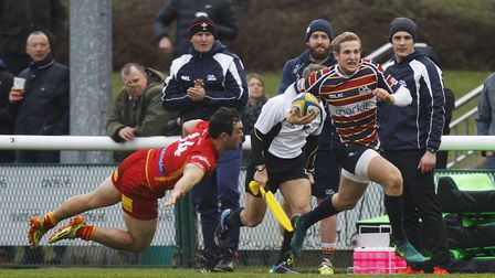 Saracens' Max Malins will return for Old Albanian at home to Hull Ionians. Picture: KARYN HADDON
