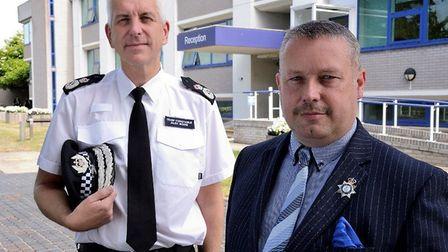 Chief Constable, Alec Wood, and Police and Crime Commissioner, Jason Ablewhite