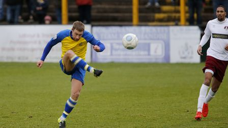 David Noble was St Albans City's man of the match against Harrogate Town. Picture: LEIGH PAGE