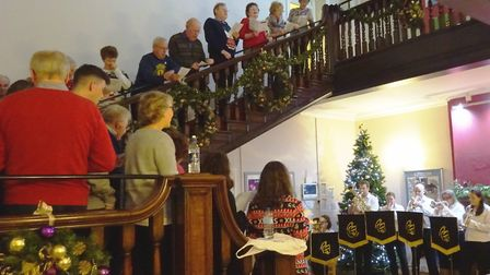 Carols at the Sue Ryder Care Home.