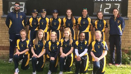 Last year's Huntingdonshire Under 15 Girls squad enjoyed a terrific year. They are back row, left to