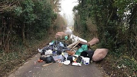 The pile of flytipping in Harpenden. Picture: Claire Kearns