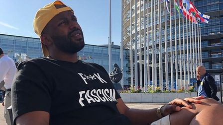 Green Party MEP Magid Magid tweeted that he had been told to leave the grounds outside the EU parlia