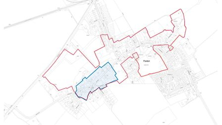 Foxton Conservation - Existing and proposed conservation boundary. Picture: SCDC