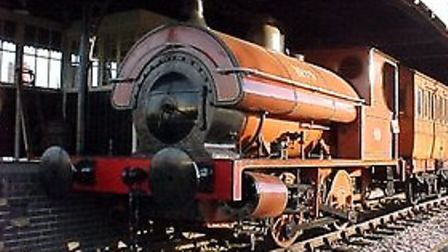 The Victorian locomotive used on the Burton to London line which is now on view at the National Brew