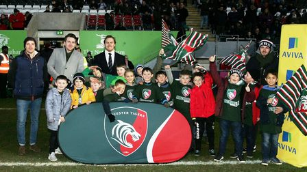 St Neots Rugby Club Under 8s during their recent trip to Leicester Tigers.