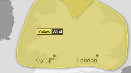A yellow weather warning for strong winds is in place for most of England and Wales this morning. Pi