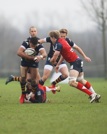 Old Albanians v Hull Ionians - Reuben Bird-Tulloch in action for the Old Albanians.Picture: Karyn