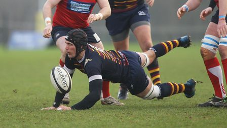 Old Albanians v Hull Ionians - Jason Billows in action for the Old Albanians.Picture: Karyn Haddo