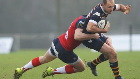 Old Albanians v Hull Ionians - Tom Bednall in action for the Old Albanians.Picture: Karyn Haddon