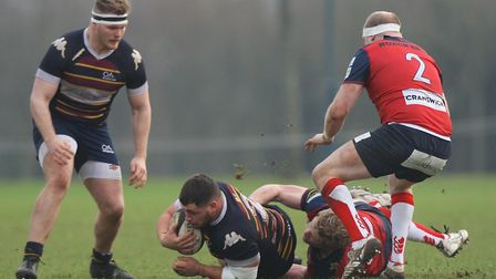 Old Albanians v Hull Ionians - Tadgh McElroy in action for the Old Albanians.Picture: Karyn Haddo