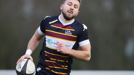 Old Albanians v Hull Ionians - Nick Foster in action for the Old Albanians.Picture: Karyn Haddon.