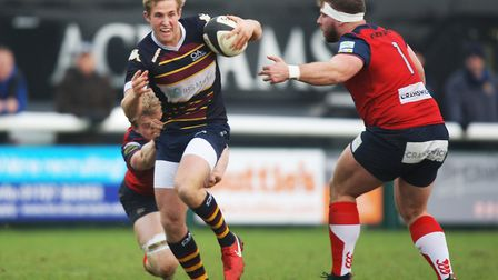 Old Albanians v Hull Ionians - Max Malins in action for the Old Albanians.Picture: Karyn Haddon.