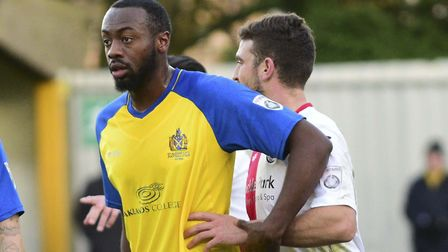 Tariq Moore-Azille is the main doubt for St Albans City ahead of the trip to Eastbourne Borough. Pic