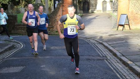 David Jackson at the Aylesbury 5K Boxing Day road race. Picture: BARRY CORNELIUS