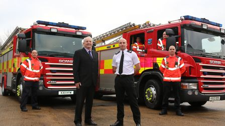 Fire Authority chairman Councillor Kevin Reynolds and assistant chief fire officer Rick Hylton with