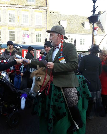 The Hobby Horse Hunt in St Ives raised money for the church spire fund.